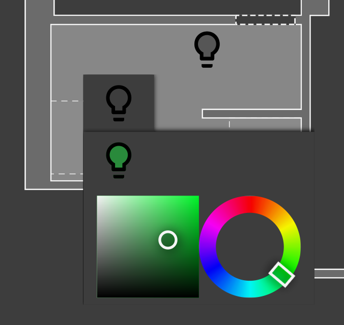 Grouped light button expanded